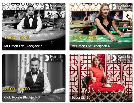 Fördelar med live casino - spela hos Mr Green!