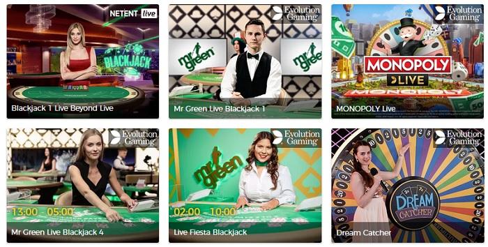 Fördelar med live casino - börja spela nu på Mr Green!