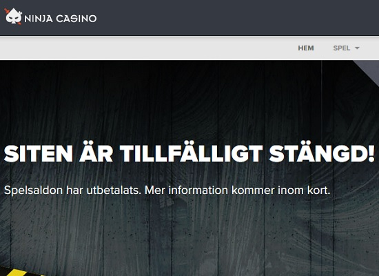 Två svenska casinon har stängts av!