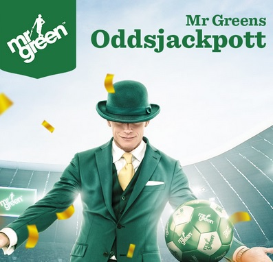Vinn en oddsjackpott på Mr Green!