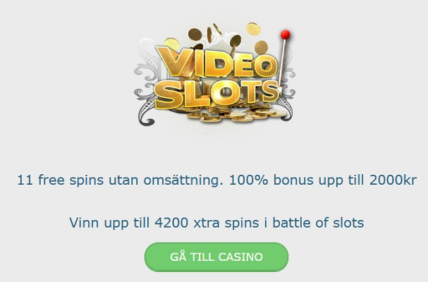 Hämta välkomstbonus nu på Videoslots Casino!